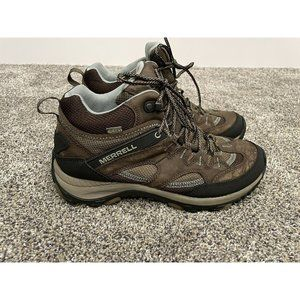 ladies Merrell brown hiking boots size 9.5